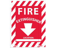 Fire Extinguisher (W/Blank Space) 12X9 Ps Vinyl