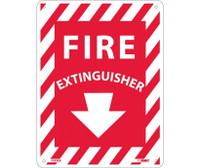 Fire Extinguisher 12X9 Rigid Plastic