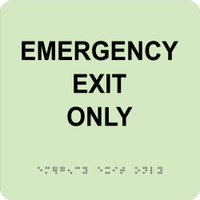 Emergency Exit Only 8X8 Glow Ada