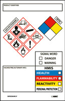 "Ghs Secondary Container Labels Picto Images Hmis Nfpa,Hazard/Precaution Info,3.5""X2.25"",Ps Vinyl 250Roll"