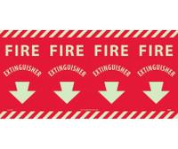 Fire Fire Extinguisher Column Marker 12X24 Ps Vinylglow