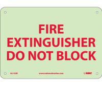 Fire Fire Extinguisher Do Not Block 7X10 Ps Vinylglow