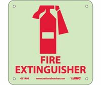 Fire Fire Extinguisher Graphic 7X7 Rigid Plasticglow