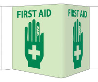 Visi First Aid 5.75X8.75 Acrylicglow