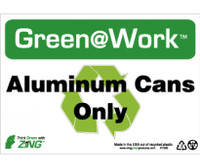 Aluminum Cans Only 7X10 Recycle Plastic