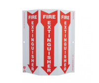 Tri-View Slim Fire Extinguisher 12X9 Recycle Plastic