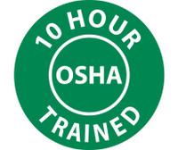 "10 Hour Osha Trained 2"" Dia Ps Vinyl 25/Pk"