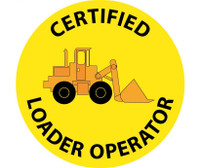 "Certified Loader Operator Graphic 2"" Dia Ps Vinyl 25/Pk"