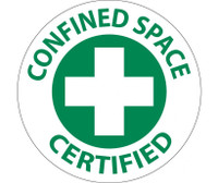 "Confined Space Certified Graphic 2"" Dia Ps Vinyl 25/Pk"