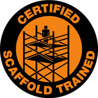 "Hard Hat Label Certified Scaffold Trained 2""Dia. Reflective Ps Vinyl 25/Pk"