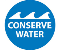 Conserve Water 2Dia. Ps Vinyl 25/Pk