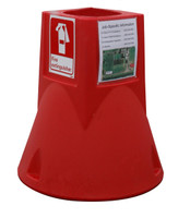 "Jobsite Caddy Base Station Only 29"" X 26"" Diameter 13 Lbs 11"" Deep Well For 5/10/20 Lb Fire Extinguisher Red"