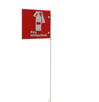 "Jsc 5' Pole Only W/ 10"" X 7"" Alum. Fire Extinguisher Sign"