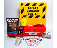Electrical Lockout Center Complete Yellow Board Wire Basket Tool Box And Contents 16 X 14