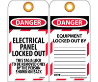 Tags Danger Do Not Start 6X3 Synthetic Paper 25/Pk (Hole)