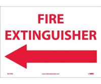 Fire Extinguisher (With Left Arrow) 10X14 Ps Vinyl