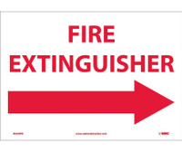 Fire Extinguisher (With Right Arrow) 10X14 Ps Vinyl