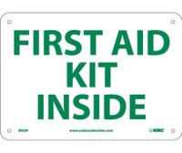 First Aid Kit Inside 7X10 Rigid Plastic