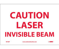 Caution Laser Invisible Beam 7X10 Ps Vinyl