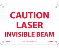 Caution Laser Invisible Beam 7X10 Rigid Plastic
