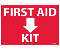 First Aid (Arrow) Kit 10X14 Rigid Plastic