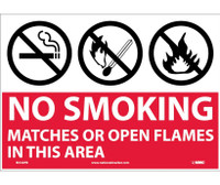 (Graphics) No Smoking Matches Or Open Flames In This Area 10X14 Ps Vinyl