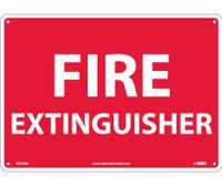 Fire Extinguisher 10X14 Rigid Plastic