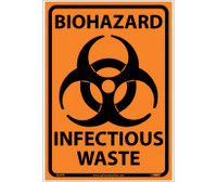 Biohazard Infectious Waste 10X14 Ps Vinyl