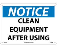 Notice Clean Equipment After Using 10X14 .040 Alum