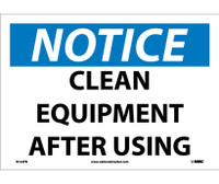 Notice Clean Equipment After Using 10X14 Ps Vinyl