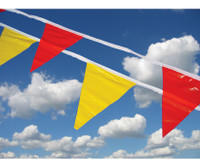Pennant Flags Red 9X12