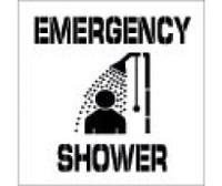 Stencil Emergency Shower 24X24