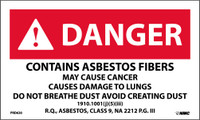 Labels Danger Contains Asbestos Fibers May Cause Cancer Causes Damage To Lungs 3 X 5 Ps Paper 500/Rl