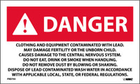 Labels Danger Clothing And Equipment Contaminated With Lead 3X5 Ps Paper 500/Rl