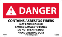 Labels Danger Contains Asbestos Fibers May Cause Cancer 3X5 Ps Paper 500/Rl