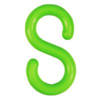 """S-Hooks Green 1 1/2"""" Packs Of 25"""