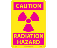 Caution (Graphic) Radiation Hazard 14X10 Rigid Plastic