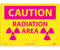 Caution Radiation Area 10X14 .050 Rigid Plastic