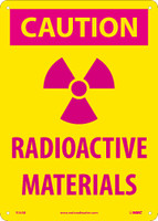 Caution (Graphic) Radioactive Materials 14X10 .040 Alum
