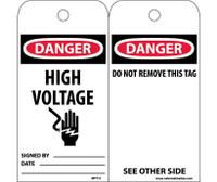 Tags Danger High Voltage 6X3 Unrip Vinyl 25/Pk