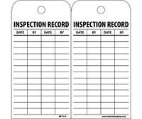 Tags Inspection Record 6X3 Unrip Vinyl 25/Pk