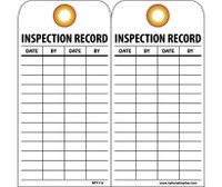 Tags Inspection Record 6X3 Unrip Vinyl 25/Pk W/ Grommet