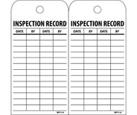 Tags Inspection Record 6X3 Polytag Box Of 100