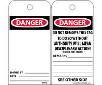 Tags Danger 6X3 Unrip Vinyl 25/Pk