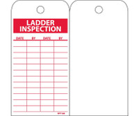 Tags Ladder Inspection 6X3 Unrip Vinyl 25/Pk