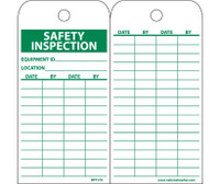 Tags Safety Inspection Record 6X3 Unrip Vinyl 25/Pk