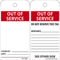 Ez Pull Tags Out Of Service 6X3 Tags On A Roll Box Of 100