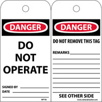 Tags Danger Do Not Operate 6X3 Cardstock 25/Pk