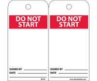 Tags Do Not Start 6X3 Unrip Vinyl 25/Pk