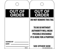 Tags Out Of Order 6X3 Unrip Vinyl 25/Pk